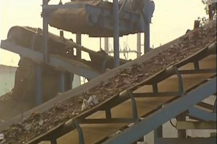 废旧金属破碎生产线视频